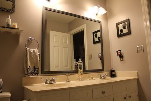 Framed bath mirrors - 15 ways to give your bathroom a ...