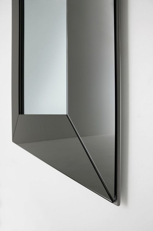wall mounted mirror contemporary rectangular wood mozart hinged wall mirror - Lakenormanhomeguide.com