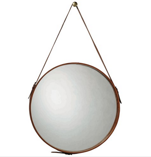 round-mirror-leather-strap-photo-2