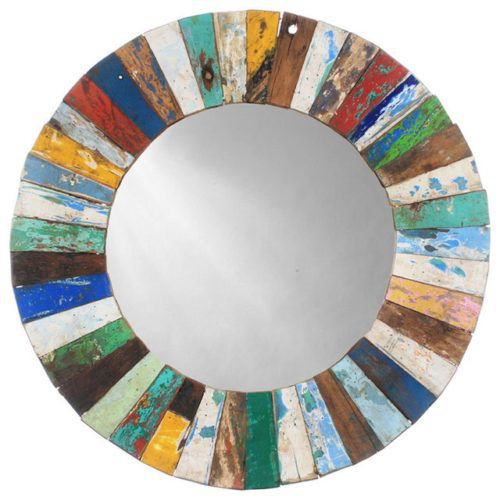 Mosaic round mirror Photo - 1